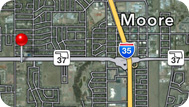 Map of Moore Counseling, 1044 SW 4th Street, Moore OK 73160